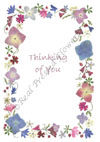 Thinking of you - pink/blue border